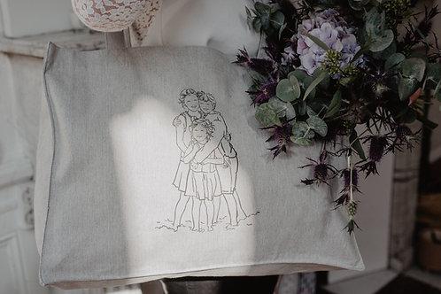 Big bag Gris collab Peintures et Gribouillages