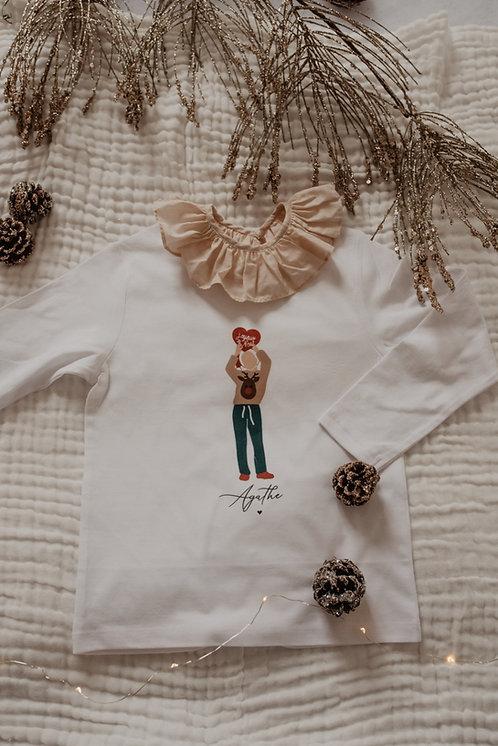 Tee-shirt de Noel Fille
