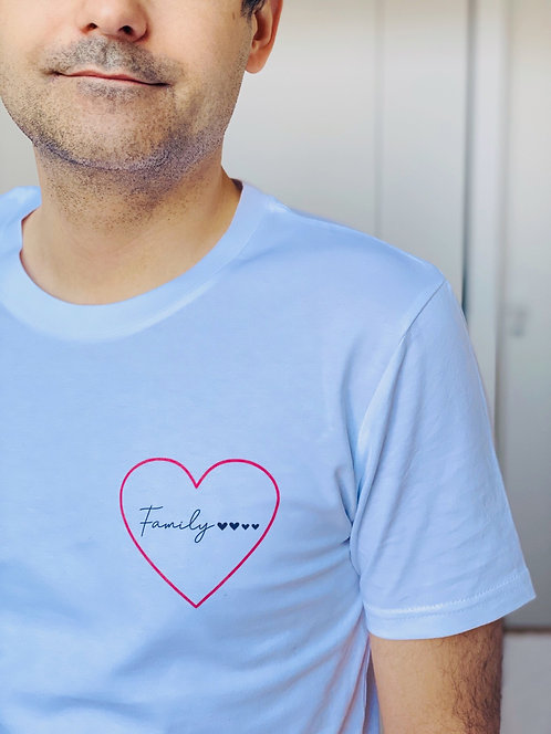 T-Shirt petit coeur Homme personnalisable