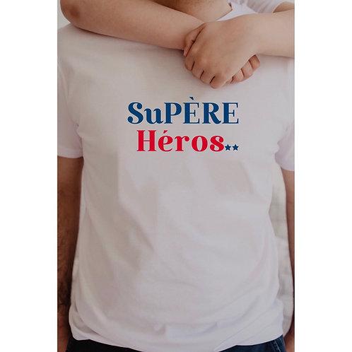 T-Shirt SuPÈRE Héros bleu/rouge