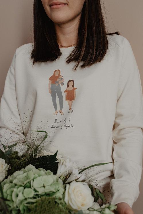 Sweat-shirt personnalisable Mum of Intemporel collab retour de plage