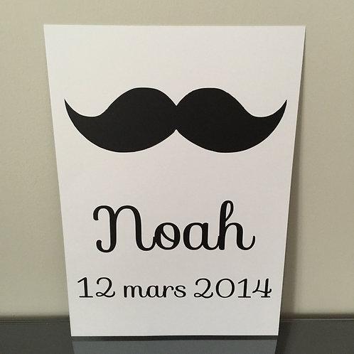 Affiche moustache (+ Couleurs)