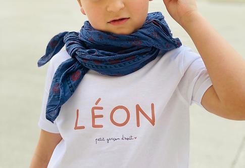 T-Shirt Enfant ou Bébé Prénom + Phrase