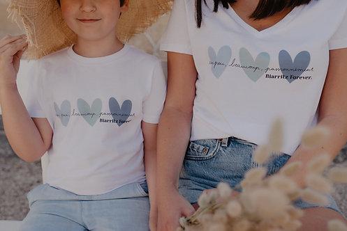 T-Shirt SUMMER Enfant ou Bébé Coeurs pastel