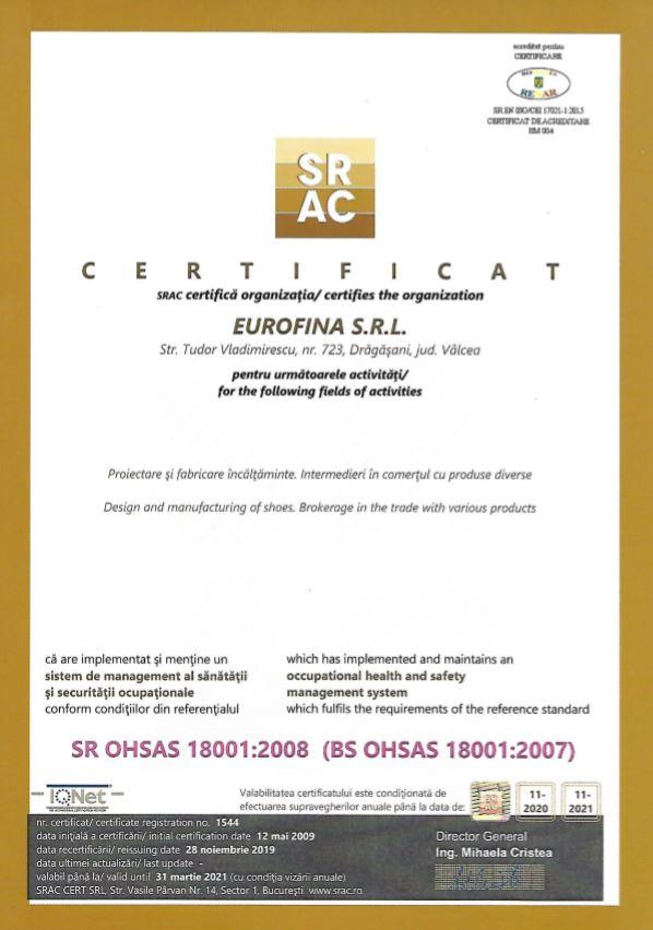OHSAS 18001 2020
