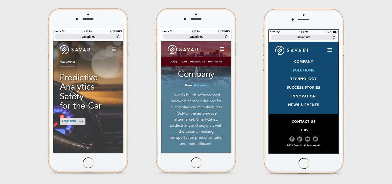 Savari Website Mobile Experience