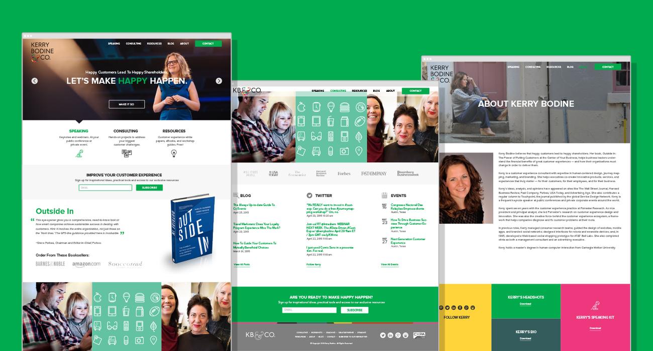 Kerry Bodine Website Design