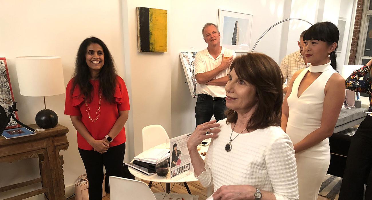 Ginger Dhaliwal, Barbara Shelly, and Mel Lim