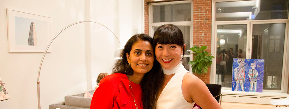 Ginger Dhaliwal and Mel Lim