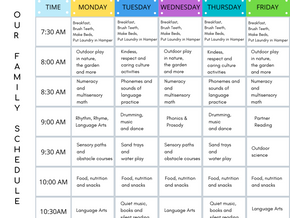 Keeping Routines, Schedules and Structure at Home