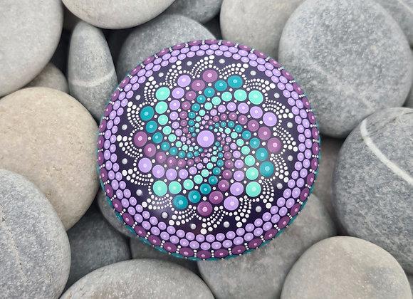 Violette & Turquoise Pierre Mandala
