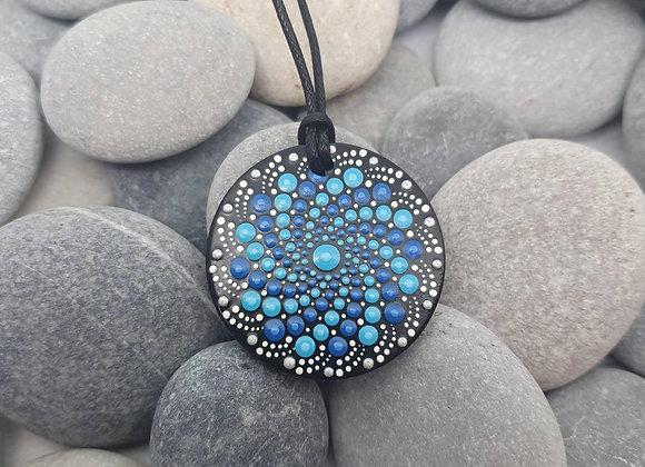 Bleu mandala collier