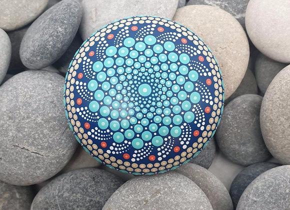 Turquoise Bleu Pierre Mandala