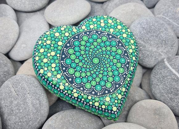Vert Coeur Pierre Mandala