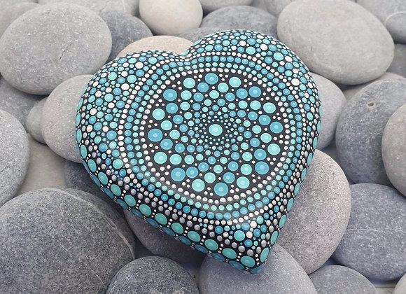 Turquoise Coeur Pierre Mandala
