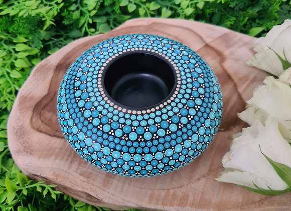 Turquoise Bougeoir