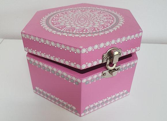 Rose boîte à bijoux