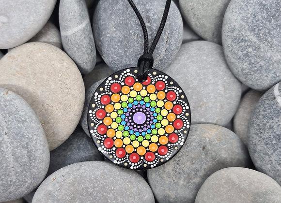 Chakra Arc-en-ciel mandala collier