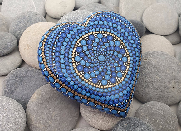 Bleu Coeur Pierre Mandala