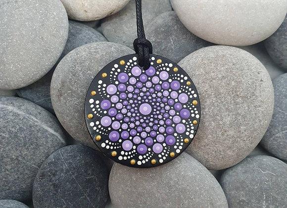 Violette mandala collier