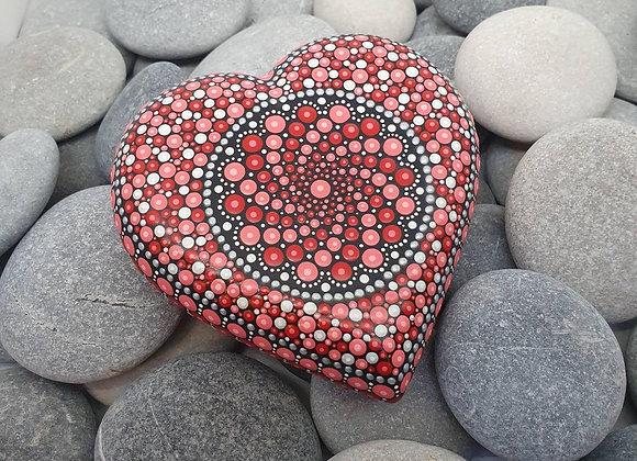Rouge Coeur Pierre Mandala