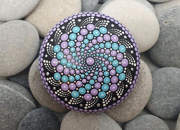 Lilac & Bleu Pierre Mandala