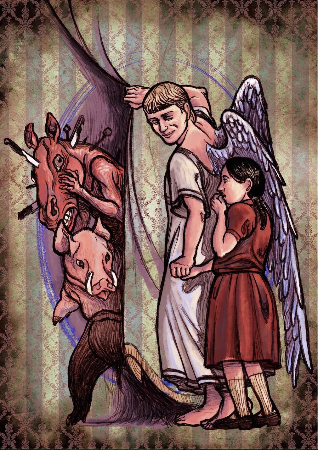 angelo con tenda