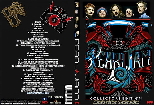 Pearl Jam Music Video Collection DVD Collector's Edition