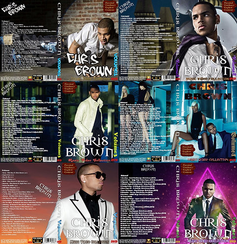 Chris Brown Music Video 6 DVDs Complete Collection