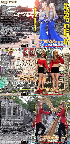 Harp Twins Music Video 3 DVDs Complete Collection