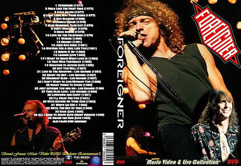 Foreigner Music Video Collection DVD