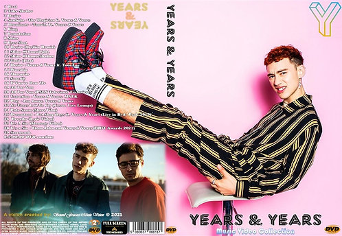 Years & Years Music Video Collection DVD