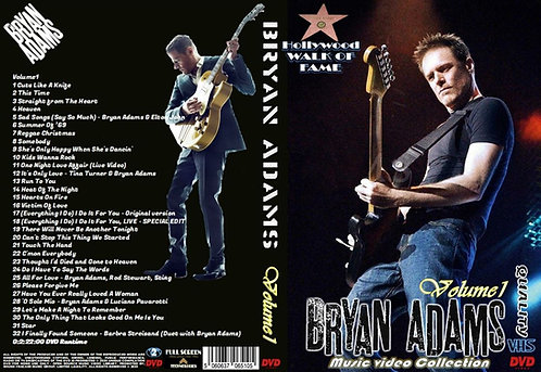 Bryan Adams Music Video DVD Volume1 Collector's Edition