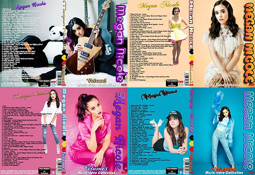 Megan Nicole Music Video 4 DVDs Complete Collection