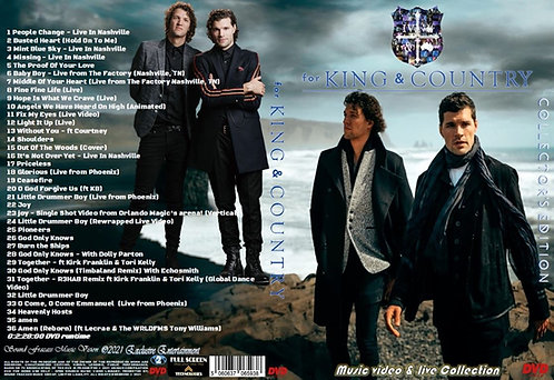 for KING & COUNTRY Music Video Collection DVD Collector's Edition