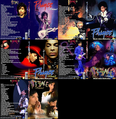 Prince Music Video Complete Collection 5 DVDs