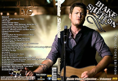 Blake Shelton Music Video DVD Volume2 Collector's Edition