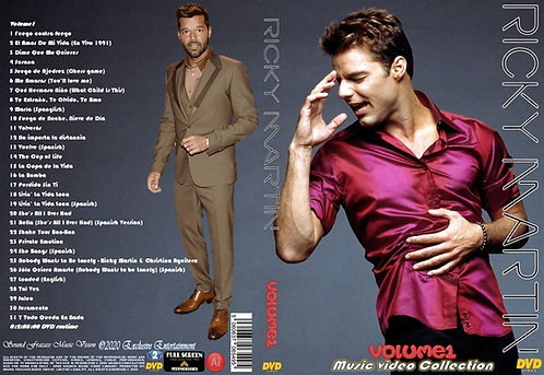 Ricky Martin Music Video Collection DVD Volume1