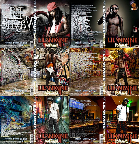 Lil Wayne Music Video Collection, 6 DVDs The Greatest Hip Hop Compilation!