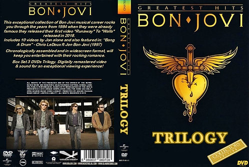 Bon Jovi Music Video Trilogy 3 Fully Remastered DVDs Collector's Edition