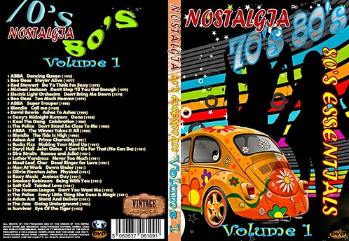 Nostalgia V1 70s/80s Essentials Music Video DVD