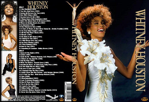 Whitney Houston Music Video DVD Greatest Hits Compilation Box-Set 2 DVDs