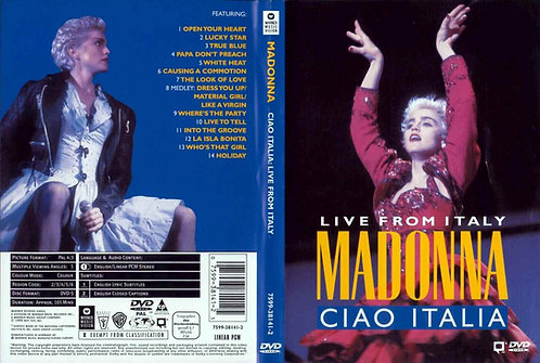 Madonna Ciao Italia: Live from Turin Italy 1988 Music Video DVD