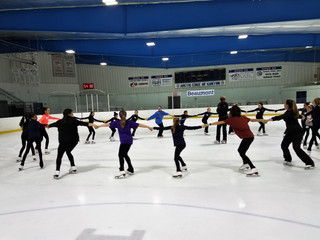 Current & Prospective Skaters Attend Synchro Clinic @ Arctic Edge