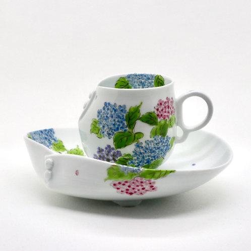 カップ&ソーサー「紫陽花」