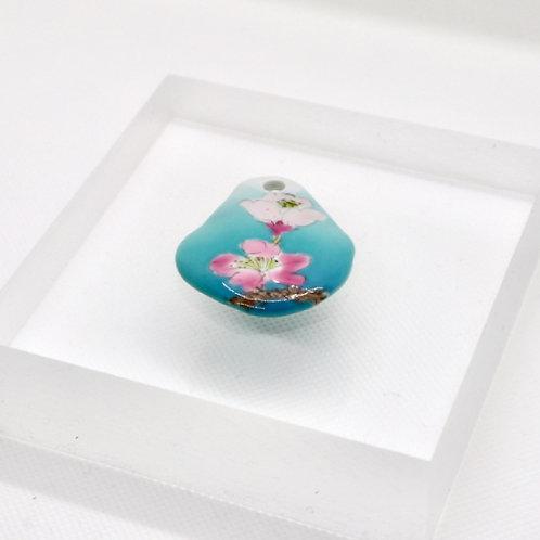 ペンダントトップ 緑彩霞「枝桜」