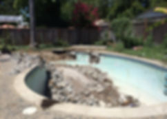 san jose pool removal, san jose pool demolition