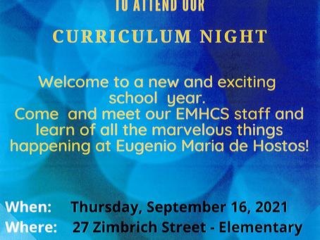 Come meet your child's teacher and staff