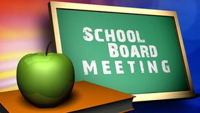 Upcoming Board Meeting: 9/28 @ 5:30 p.m.