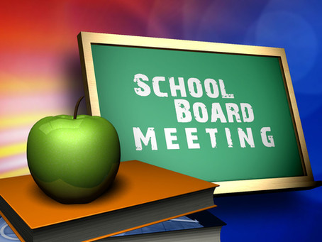 Upcoming Special Board Meeting: 9/7 @ 5:00 p.m.